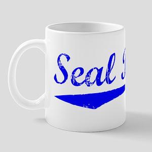 Vintage Seal Beach (Blue) Mug