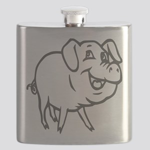 LITTLE PIG -curly tail Flask