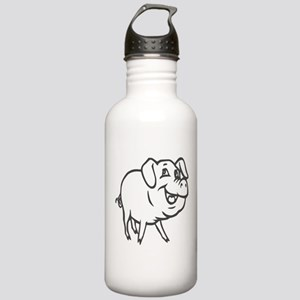 LITTLE PIG -curly tail Water Bottle