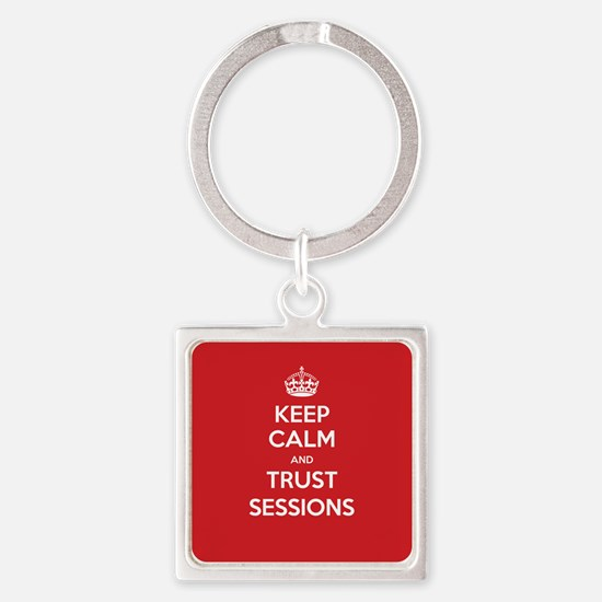 Trust Sessions Square Keychain
