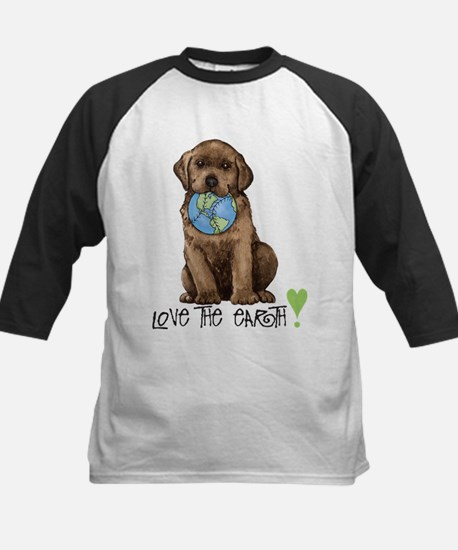 Earth Day Labrador Kids Baseball Jersey