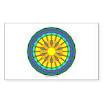 Sun Web Rectangle Sticker 50 pk)