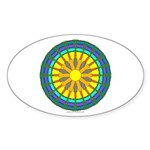 Sun Web Oval Sticker (10 pk)