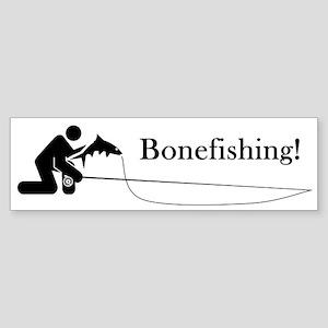 """Bonefishing!"" Bumper Sticker"