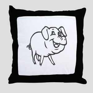 LITTLE PIG -curly tail Throw Pillow