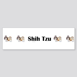 Shih Tzu is Boss Sticker (Bumper)