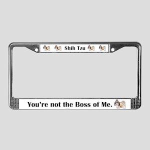 Shih Tzu is Boss License Plate Frame