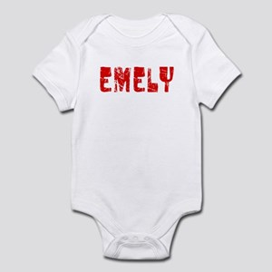 Emely Faded (Red) Infant Bodysuit