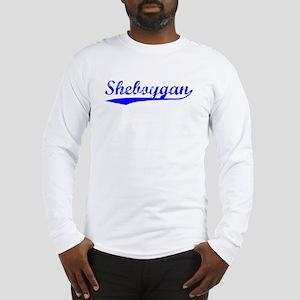 Vintage Sheboygan (Blue) Long Sleeve T-Shirt