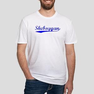 Vintage Sheboygan (Blue) Fitted T-Shirt