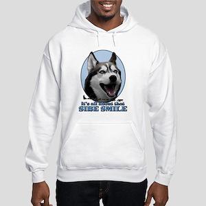 Gray Sibe Smile Hooded Sweatshirt