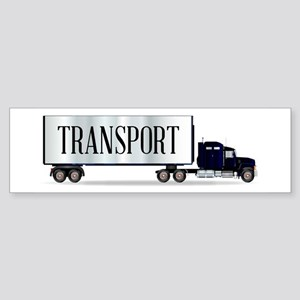 Truck Tractor Unit And Trailer With Bumper Sticker