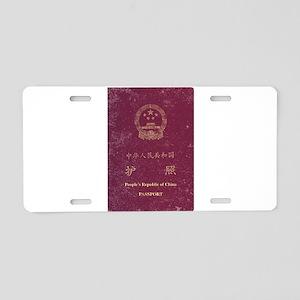 Chinese Worn Passport Aluminum License Plate