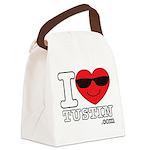 I Love Tustin Canvas Lunch Bag