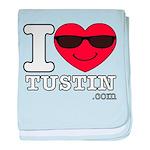 I Love Tustin baby blanket