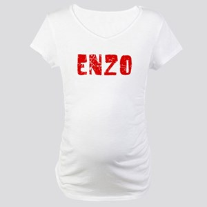 Enzo Faded (Red) Maternity T-Shirt
