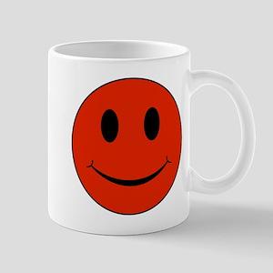 Red Smiley Face 11 oz Ceramic Mug