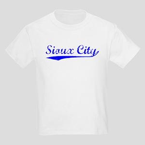 Vintage Sioux City (Blue) Kids Light T-Shirt