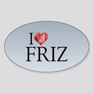 I Heart Friz Oval Sticker