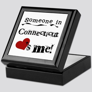Someone in Connecticut Keepsake Box