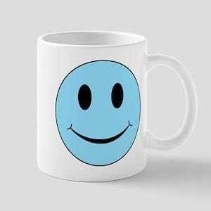 Aqua Smiley Face 11 oz Ceramic Mug