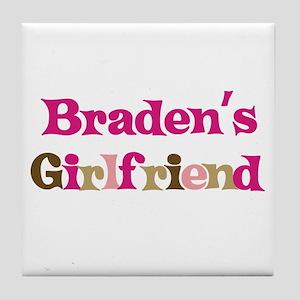 Braden's Girlfriend Tile Coaster
