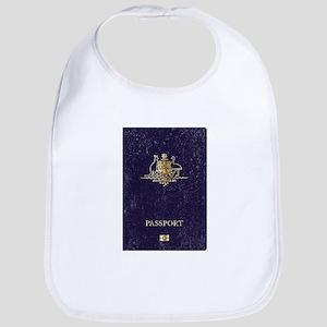 Australian Worn Passport Baby Bib