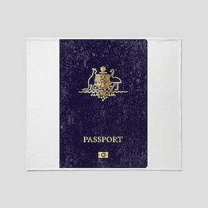 Australian Worn Passport Throw Blanket