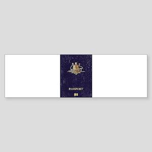 Australian Worn Passport Bumper Sticker