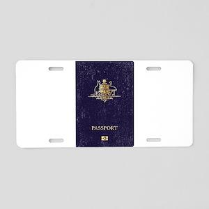 Australian Worn Passport Aluminum License Plate