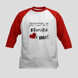Someone in Florida Kids Baseball Jersey