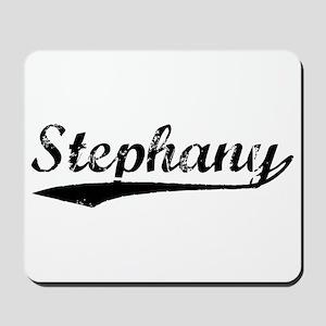 Vintage Stephany (Black) Mousepad