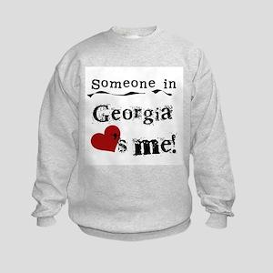 Someone in Georgia Kids Sweatshirt