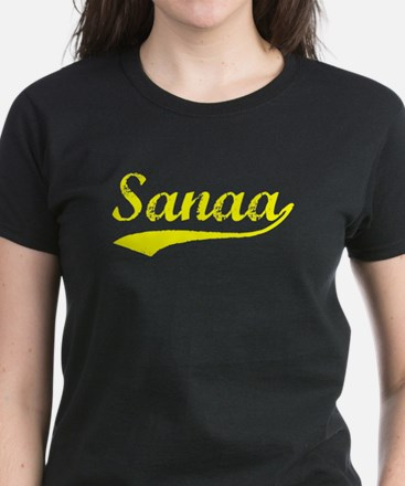 Vintage Sanaa (Gold) Women's Dark T-Shirt