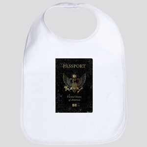 Worn United States of America Passport Baby Bib
