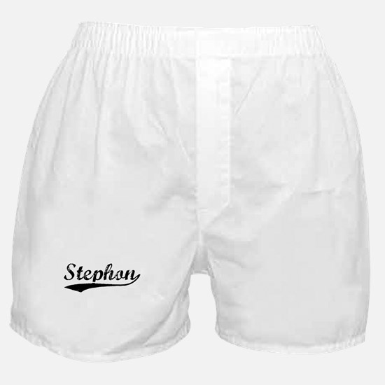 Vintage Stephon (Black) Boxer Shorts