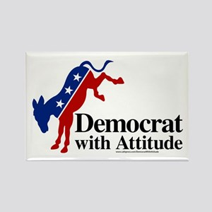 Democrat With Attitude Rectangle Magnets