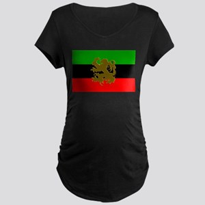 Marcus Garvey Lion of Judah Maternity Dark T-Shirt