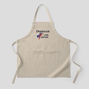 Democrat With Attitude Light Apron