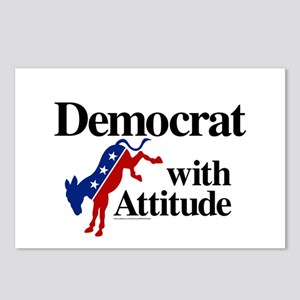 Democrat With Attitude Postcards (package Of 8)