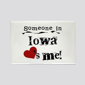 Someone in Iowa Rectangle Magnet