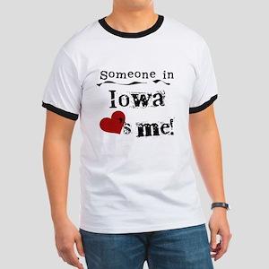 Someone in Iowa Ringer T