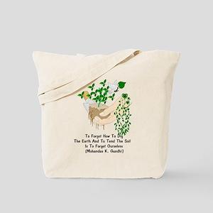 Gandhi Earth Quote Tote Bag