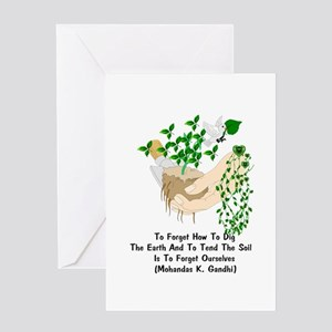 Gandhi Earth Quote Greeting Card