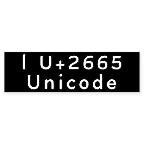 I Love Unicode Bumper Sticker