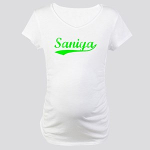 Vintage Saniya (Green) Maternity T-Shirt