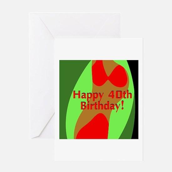 Happy 40th Birthday! Greeting Card