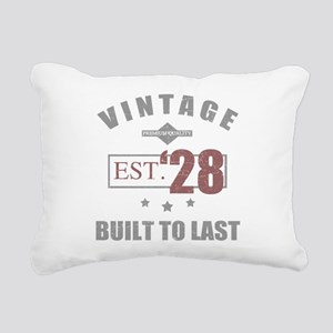 Vintage 1928 Rectangular Canvas Pillow