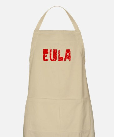 Eula Faded (Red) BBQ Apron