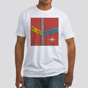 REP PISTOLVANIA BRICK WALL Fitted T-Shirt